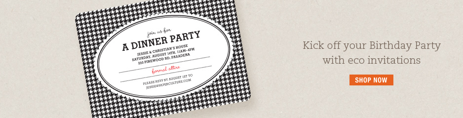 Party Invitations, Birthday Invitations and Moving Announcements